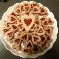 Linzer Biscuit Love Hearts