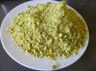 plate of ground pistachio kernels